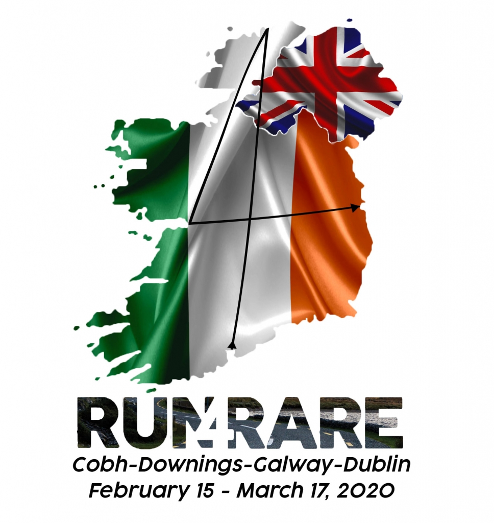 Run4Rare - Cobh-Downings-Galway-Dublin - February 15 - March 17, 2020